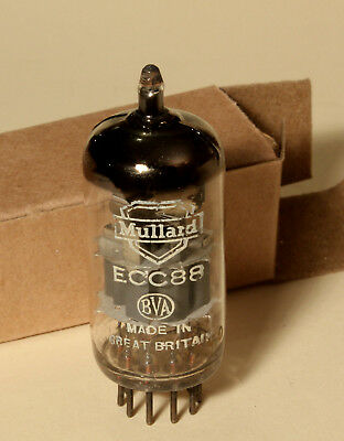 Dual-Triode Mullard Ecc88 / 6Dj8 N.o.s. Tested Strong