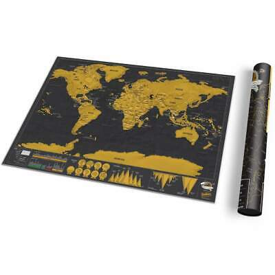 LUCKIES | Deluxe Scratch Map | Travel Edition