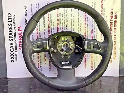 Audi A8 D3 Steering Wheel with DSG Tiptronic Gear Paddle Shifters 4E0419091BD25D