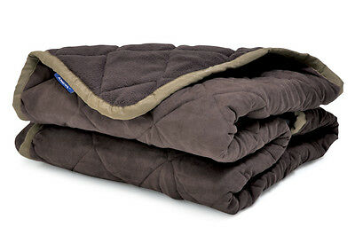 Ancol Sleepy Paws 145cm x 145cm Quilted Chair Throw Brown