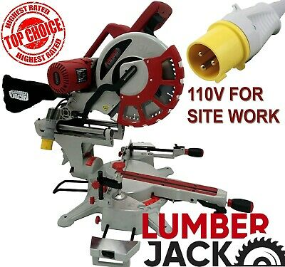 "12"" Compound Sliding Mitre Saw with Laser 110v +45°/-45° DOUBLE BEVEL Cut 305mm"