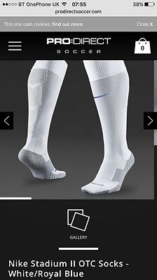 White Nike Team Stadium II Performance Socks - Size 11 - 14.5 -  RRP £9.99