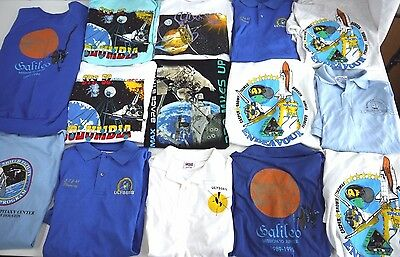 LOT of 14 80s 90s VINTAGE SPACE MISSION t shirt mens M NASA USA GALILEO columbia
