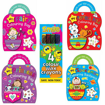 100 Stickers My Perfect Colouring Bag Book Sketching Kids Loot Art Fun Style