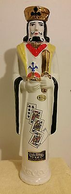 "1969 ""King of Clubs"" Ezra Brooks decanter"