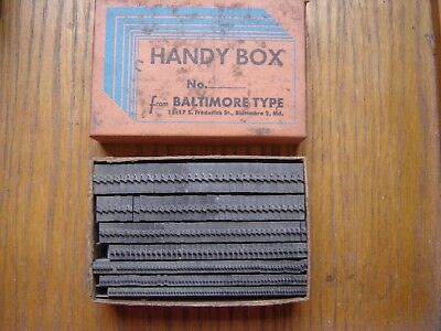 Letterpress Metal Type  Handy Box of Check Marks 36 to 12 Point