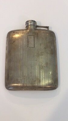 Wallace Sterling Silver Flask Engraved