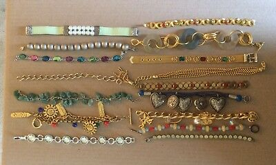 Vintage Fashion Jewelry Bracelets Assorted Lot of 16 - FREE SHIPPING!!!