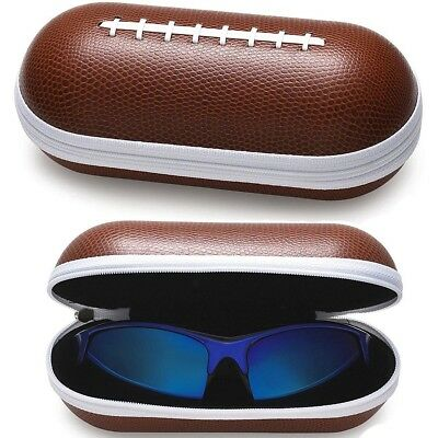 New Football Design Portable Zipper Eye Glasses Sunglasses Hard Case Box Holder