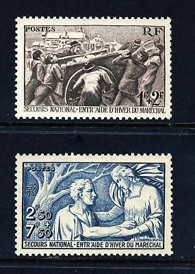 FRANCE . 1941 National Relief Fund (B112-113) . Mint Never Hinged