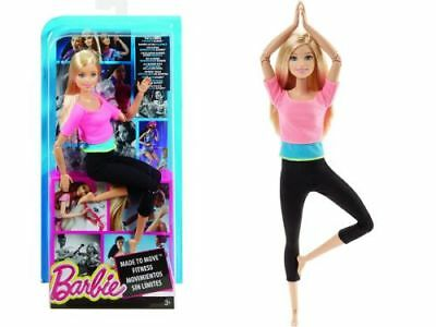 Mattel Barbie Made to Move Fitness pink | Bewegliche Puppe DHL 82 DHL81