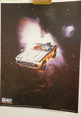 Corvette Opening Scene Heavy Metal The Movie Astronaut 24 x 18 Poster 1981