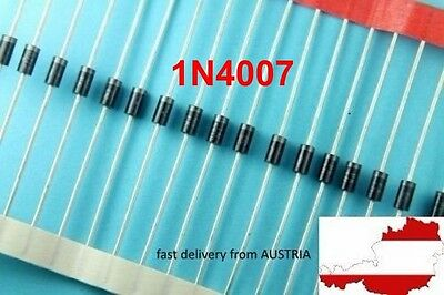 25x 1N4007 DO-41 1A 1000V SCHOTTKY DIODE General Purpose Plastic Rectifier NEW