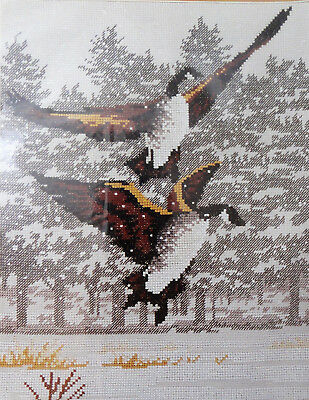 """Canada Geese Counted Cross Stitch Kit Monarch Horizons 9.5"""" x 12"""" Canadian"""