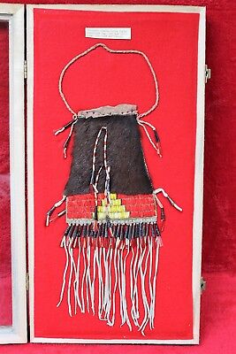 Authentic Northern Plains Sioux Fur and Quill Possibles Bag
