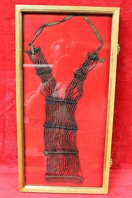 Authentic 1800's Northern Plains Sioux Womans Beaded Breast Plate