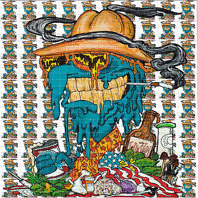Melty Gonzo HST by Vincent Gordon - BLOTTER ART Perforated paper acid free