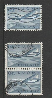 Finland - 1958 & 1963 - Air Stamps - Used .