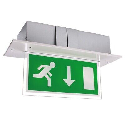 Double-Sided Recessed LED Fire Exit Sign with Self-Test - Calabor EX