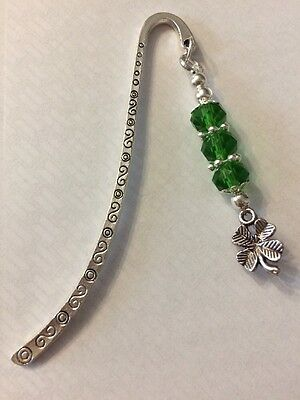 Good Luck Bookmark - Green, Four Leaf Clover Gift