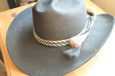 c7983880281 New Western Horse Hair Flat Hatband Rodeo Cowboy Narrow Horsehair Hat Band
