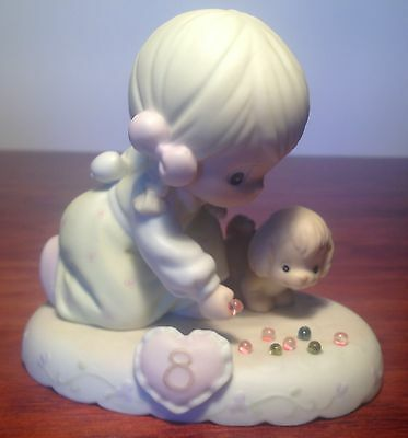 Precious Moment Figurine Girl Shooting Marbles Aged 8 Growing In Grace