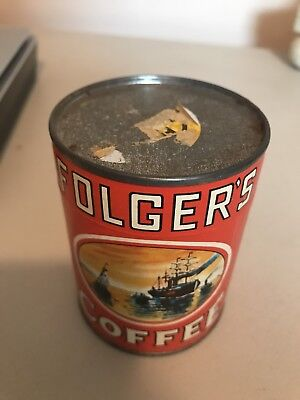 Vintage Folger's Coffee Puzzle in Sealed Can