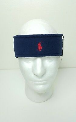 "Nwt Polo Ralph Lauren ""pony"" Headband Earwarmer ""navy"" ( One Size ) Nwt"