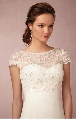 BHLDN Anthropologie  LUCIANA Topper JENNY YOO  MRSP $250 size S