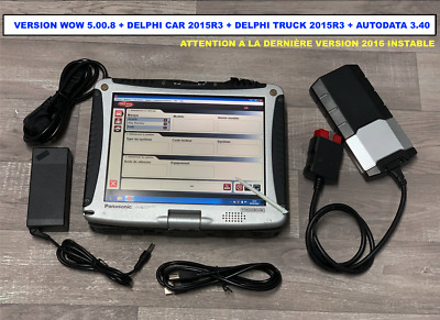 Valise de Diagnostique Auto + CF-19 Toughbook sonde obd2 interface 18