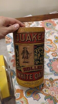 VTG QUAKER OATS CARD BOARD CONTAINER CAN ADVERTISING 1900s