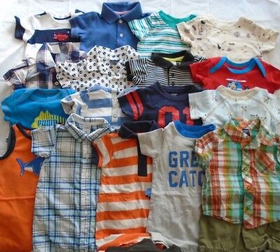 Used 22 Pc. Lot Of Baby Boy Clothes 3-6 Months Euc/vguc