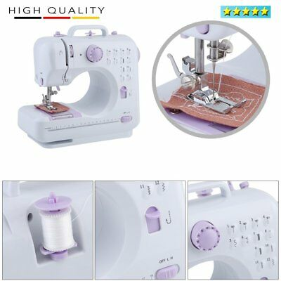 Multifunction Electric Overlock Sewing Machine Household Sewing 12 Stitches HT