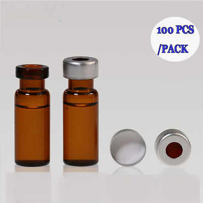 2ML Amber Vials Syringe Filter Auto Sample Vials +Aluminum Cap of PTFE/Silicone