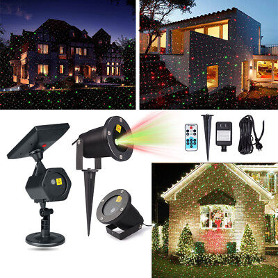 Waterproof Outdoor Christmas Fairy Lights Solar Power Star Laser Projector Light