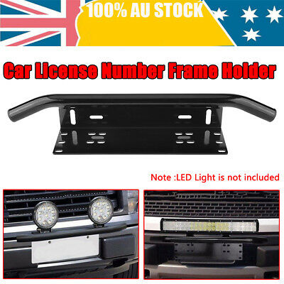 "23 "" Car License Plate Bracket Holder Bull Bar Front Bumper LED Light Mount NEW"