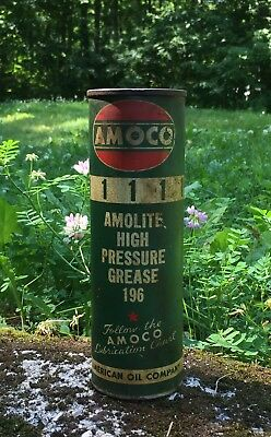 RARE Vintage AMOCO Amolite High Pressure Grease 196 American Oil Co Can