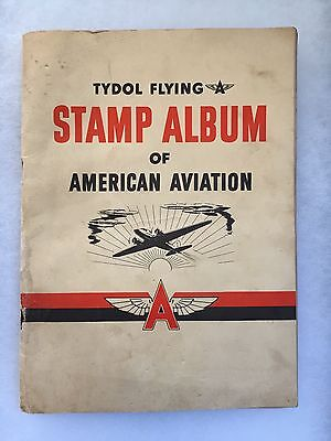 Vintage 1940 TYDOL Flying A Gas Oil Stamp Album Of American Aviation Book