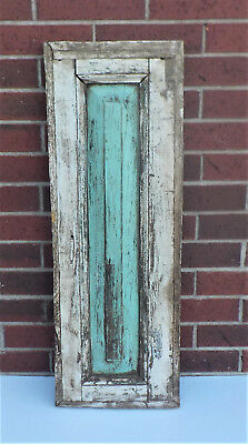 "SPANISH COLONIAL ANTIQUE WOODEN DOOR PANEL OLD MEXICO 34 5/8 x 12 1/4 x 1 7/8"" r"