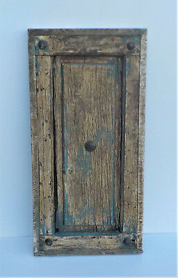 "SPANISH COLONIAL ANTIQUE WOODEN DOOR PANEL OLD MEXICO 30 7/8"" x 15"" x 2""   u"