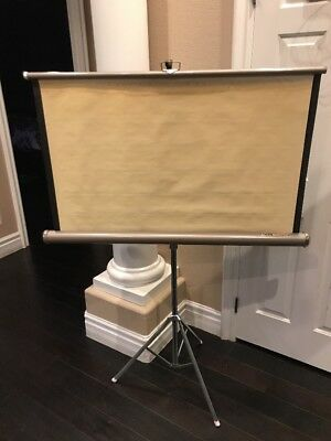 Vintage Knox Four Hundred Projector Screen w/Tripod Stand Antique