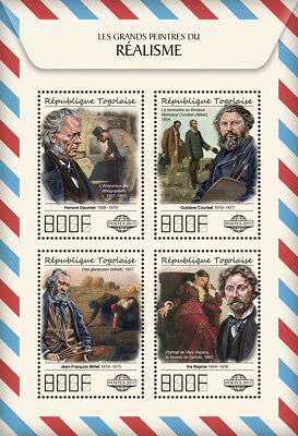 Z08 TG17512a Togo 2017 Great painters of Realism MNH Mint