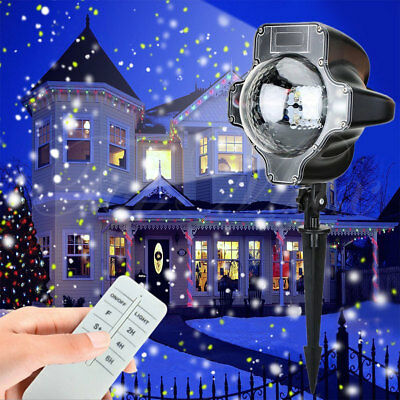 LED Laser Lights Snowing Projector Party Christmas Decor Landscape Outdoor Gift
