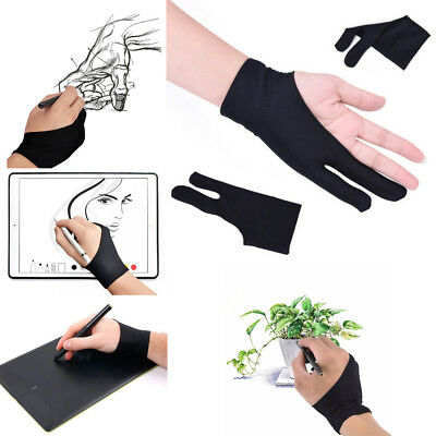1X Men/Female Two Finger Anti-fouling Glove For Artist Drawing Graphic Table Pad