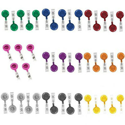 Retractable Id Badge Reel Tag Clip With 10-50pcs Wholesale Holder Name Card Belt