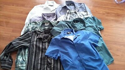 Mens size M bulk lot shirts Ben Sherman, Jonathan Adams, jeanswest and more x 8