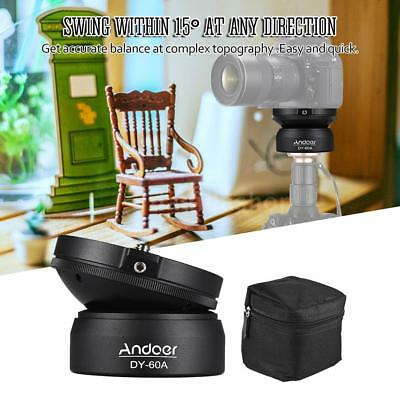 Andoer DY-60A Tripod Leveling Base Photography Ball Head For DSLR Cameras D8D2