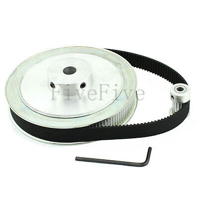 HTD 3M 120/15 Teeth Timing Pulley Belt Width 11mm Set Kit Reduction Ratio 8:1