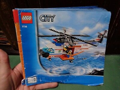 Lego City Forest 4436 Patrol Car Instruction Book Only No Lego