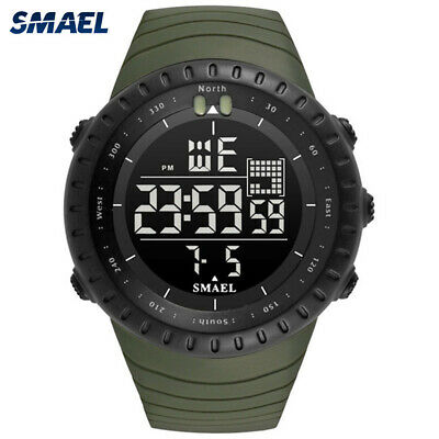 SMAEL Men Electronic Sport Watch Chronograph Digital Watches Boys LED Wristwatch